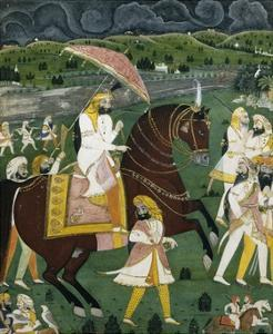 Early 19th Century Painting Titled Maharajah Sher Singh, Son of Ranjeet Singh