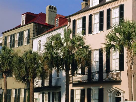 Early 19th Century Town Houses, Charleston, South Carolina, USA-Duncan Maxwell-Photographic Print