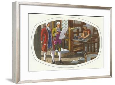 Early American Printing Press--Framed Art Print