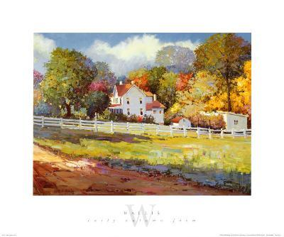 Early Autumn Farm-Kent Wallis-Art Print