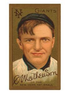 Early Baseball Card, Christy Mathewson