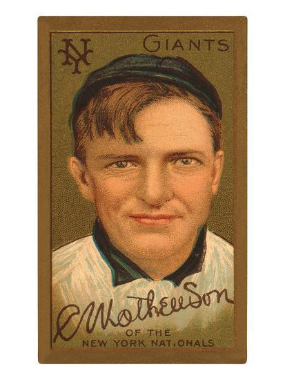 Early Baseball Card Christy Mathewson Art Print By Artcom