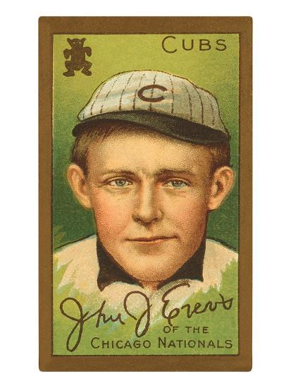 Early Baseball Card Johnny Evers Art Print By Artcom
