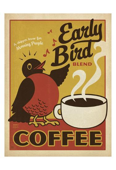 Early Bird Blend Coffee-Anderson Design Group-Giclee Print