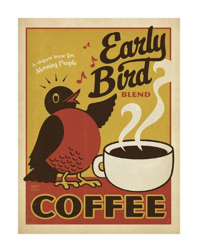 Early Bird Blend Coffee-Anderson Design Group-Art Print