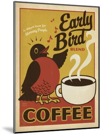Early Bird Blend Coffee-Anderson Design Group-Mounted Print