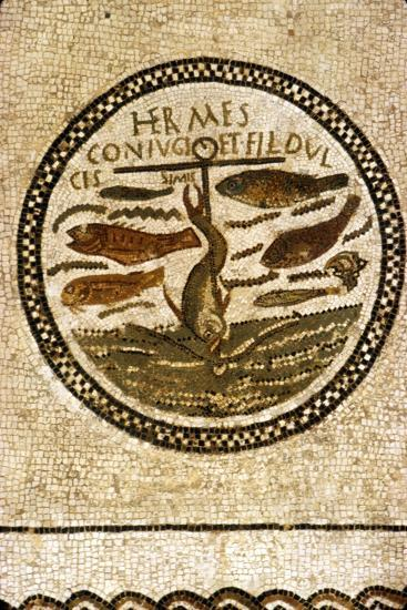 Early Christian Funerary Mosaic, (Roman), 4th century-Unknown-Giclee Print