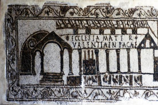 Early Christian Roman Mosaic of Christian Basilica, c1st-2nd century-Unknown-Giclee Print