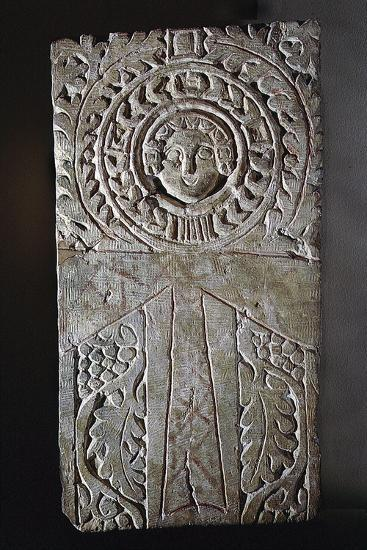 Early Coptic Christian stela, Egypt, 4th-7th century-Werner Forman-Giclee Print