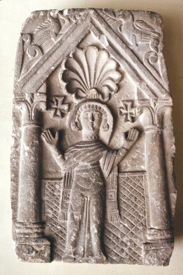 Early Coptic Funerary Slab, 3rd-4th century-Unknown-Giclee Print