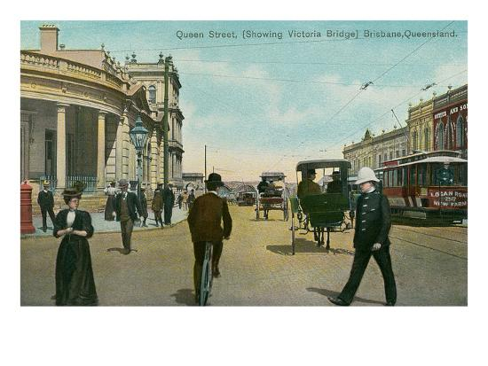 Early Downtown Brisbane, Queensland, Australia--Art Print