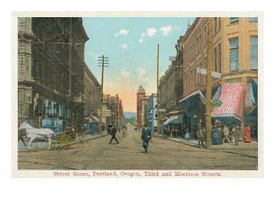 Early Downtown Portland, Oregon--Art Print