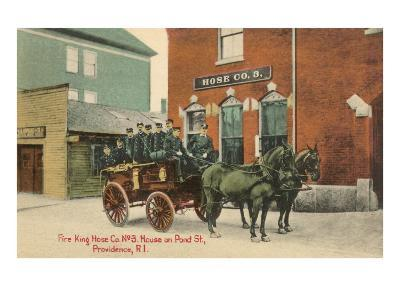Early Fire Equipment, Providence, Rhode Island--Art Print