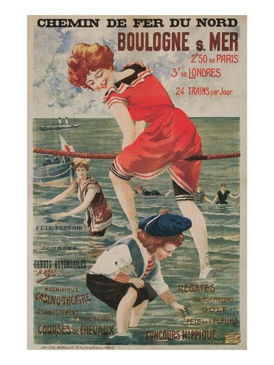 Early French Bathing Beauty, Boulogne--Art Print
