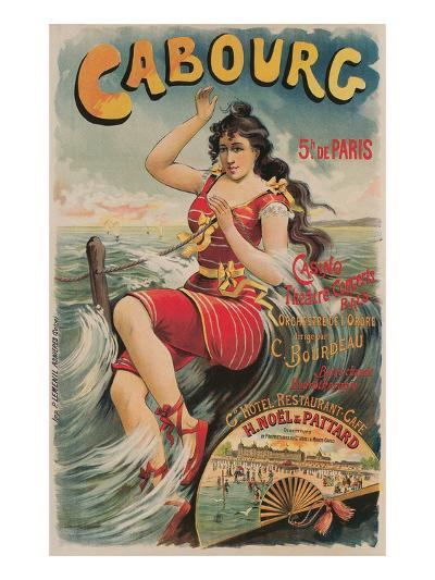 Early French Bathing Beauty, Cabourg--Art Print