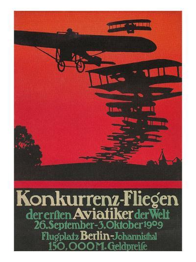 Early German Airshow, 1909--Art Print