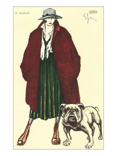 Early Grunge Look with English Bulldog--Art Print