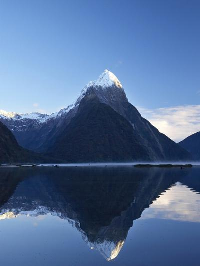 Early Light on Mitre Peak, Milford Sound, Fiordland National Park, South Island, New Zealand-David Wall-Photographic Print