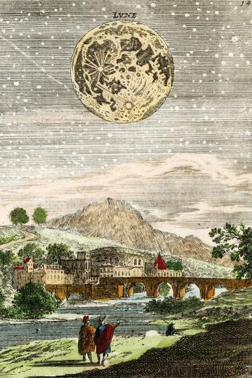 Early Map of the Moon, 1635-Detlev Van Ravenswaay-Photographic Print