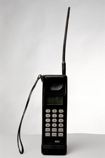 Early Mobile Phone-Victor De Schwanberg-Photographic Print