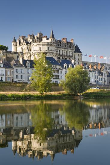 Early Morning Below Chateau D'Amboise, Amboise, Indre-Et-Loire, Centre, France-Brian Jannsen-Photographic Print
