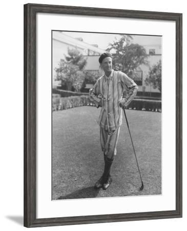Early Morning Golfer--Framed Photo
