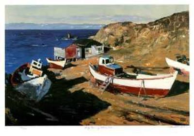 Early Morning - Hobb's Cove-Murray McCheyne Stewart-Collectable Print