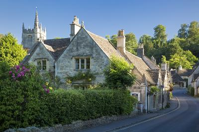 Early Morning in Castle Combe, the Cotswolds, Wiltshire, England-Brian Jannsen-Photographic Print