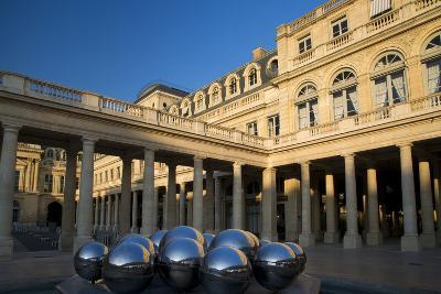 Early Morning in the Courtyard of Palais Royal, Paris, France-Brian Jannsen-Photographic Print