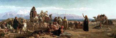 Early Morning in the Wilderness of Shur, 1860-Frederick Goodall-Giclee Print
