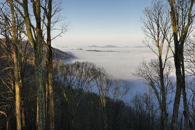 Early Morning Light and Clouds in the Valleys Make Mountains Look Like Islands-Amy, Al White, Petteway-Photographic Print