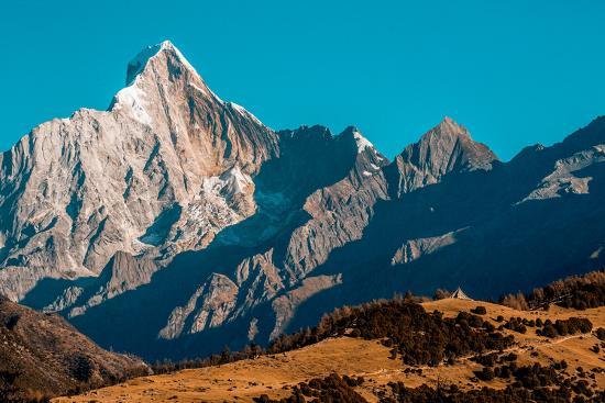 Early morning light on Mount Siguniang on the Tibetan Plateau.-Ben Horton-Photographic Print