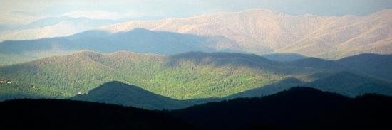 Early Morning Light on the Blue Ridge Mountains-Amy & Al White & Petteway-Photographic Print
