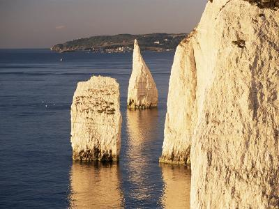Early Morning Light on the Pinnacles, Handfast Point, Studland, Dorset, England-Ruth Tomlinson-Photographic Print
