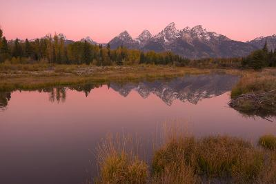 Early Morning Light On The Tetons From Schwabachers Landing In Grand Teton National Park, Wyoming-Austin Cronnelly-Photographic Print