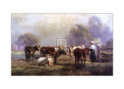 Early Morning Milking-J^ Scheltema-Art Print