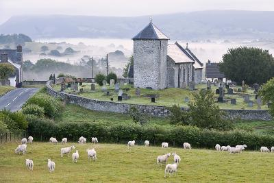 Early Morning Mist in the Valleys Surrounds St. David's Church-Graham Lawrence-Photographic Print