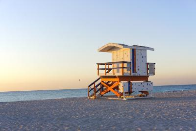 Early Morning on Beach-photo by dasar-Photographic Print