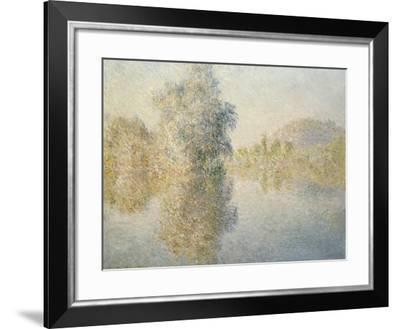 Early Morning on the Seine at Giverny, 1893-Claude Monet-Framed Giclee Print