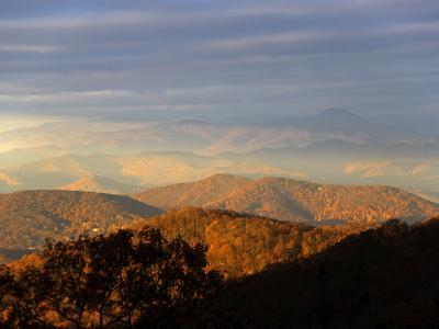 Early Morning Sunlight on the Mountain Tops-Amy & Al White & Petteway-Photographic Print