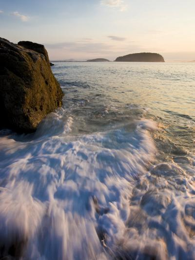 Early morning surf in Frenchman Bay, Acadia National Park, Maine, USA-Jerry & Marcy Monkman-Photographic Print