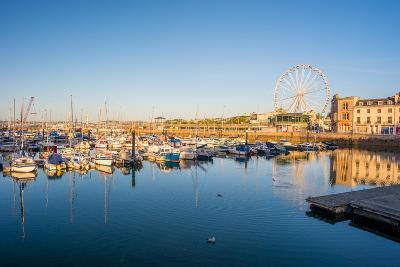 Early Morning Tranquility at Torquay Harbour Devon UK-David Holbrook-Photographic Print