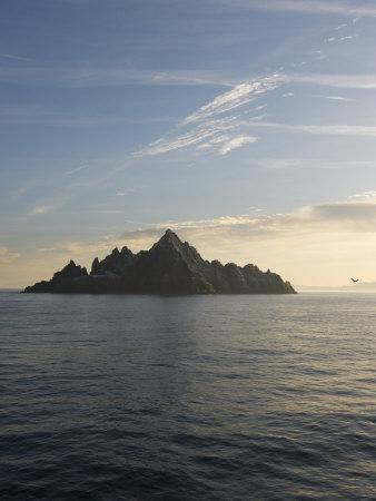 Early Morning View of Little Skellig, Home to Over 20,000 Pairs of Northern Gannets, Morus Bassanus-Keenpress-Photographic Print
