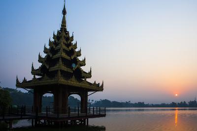 Early Morning View of Royal Kaytumadi Hotel, Toungoo, Myanmar (Burma), Asia-Thomas L-Photographic Print