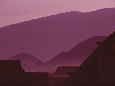 Early Morning View of Teotihuacan with Cerro Gordo in the Background-Kenneth Garrett-Photographic Print