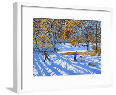 Early Snow, Allestree Park-Andrew Macara-Framed Giclee Print
