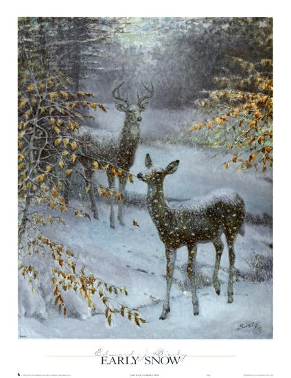 Early Snow-Edward J^ Bierly-Art Print