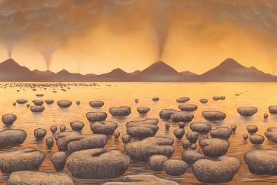 Early Stromatolites, Artwork-Richard Bizley-Photographic Print