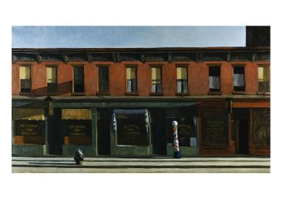Early Sunday Morning-Edward Hopper-Giclee Print