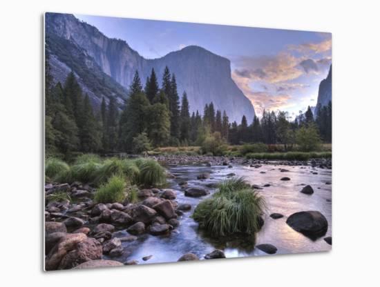 Early Sunrise, Yosemite, California, USA-Tom Norring-Metal Print
